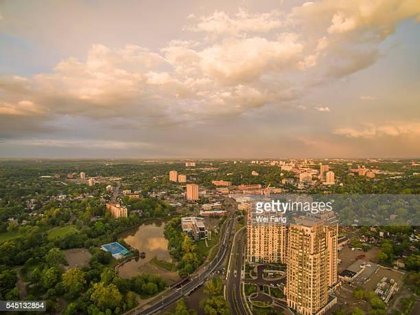 Aerial View of Waterloo Uptown
