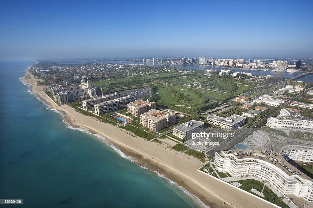 Aerial view of West Palm Beach, Florida : Stock Photo