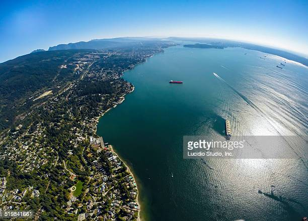 Aerial view of West Vancouver BC Canada