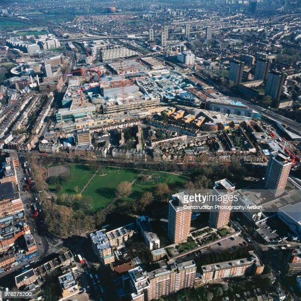 Aerial view of Westfield Shopping Centre Shepherds Bush London UK