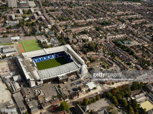 Aerial view of White Hart Lane Football Stadium,Tottenham Hotspurs, London, UK.