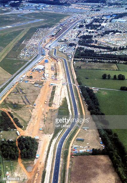 Aerial view of White House on the Le Mans circuit France 1973