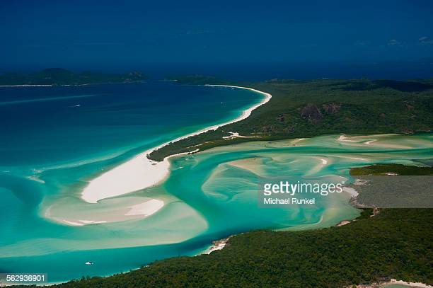 Aerial view of Whitehaven in the Whitsunday Islands, Queensland, Australia