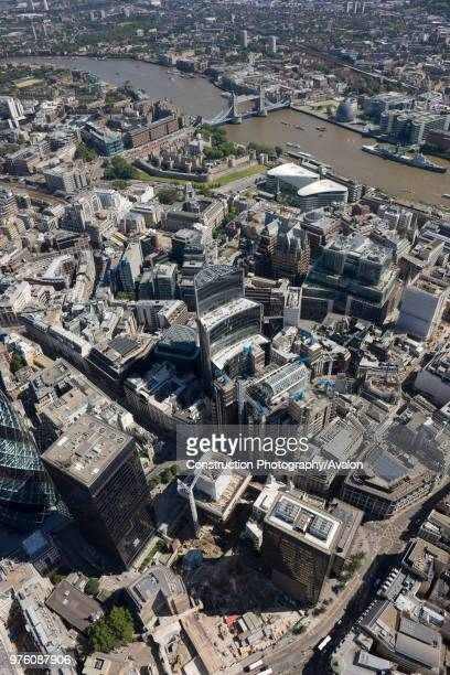 Aerial view of Willis building City of London Tower of London