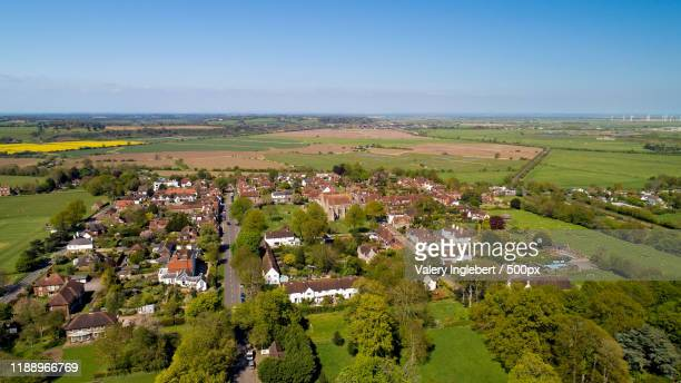 aerial view of winchelsea in the east sussex - イーストサセックス ストックフォトと画像