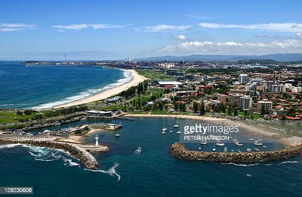 Aerial view of Wollongong, New South Wales, Australia