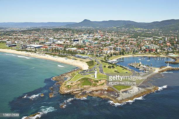 Aerial view of Wollongong, NSW, Australia