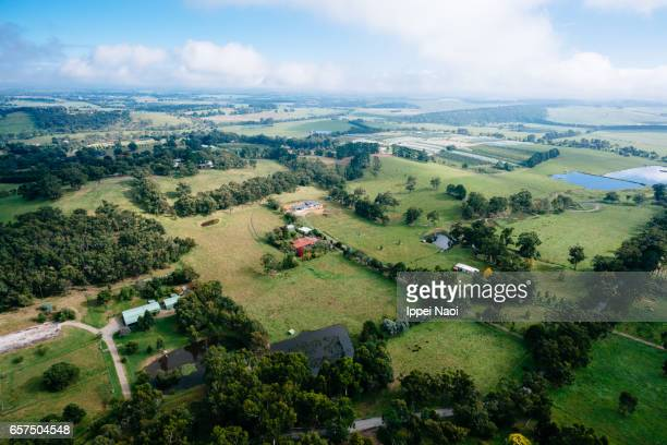 Aerial view of Yarra Valley, Victoria, Australia
