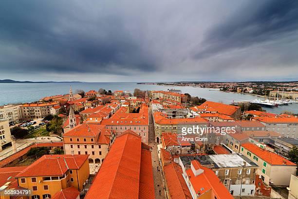 Aerial view of Zadar Old Town, Croatia