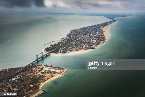 aerial view of zatoka - odessa ukraina bildbanksfoton och bilder