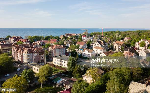 aerial view of zelenogradsk (former cranz) in russia - kaliningrad stock pictures, royalty-free photos & images