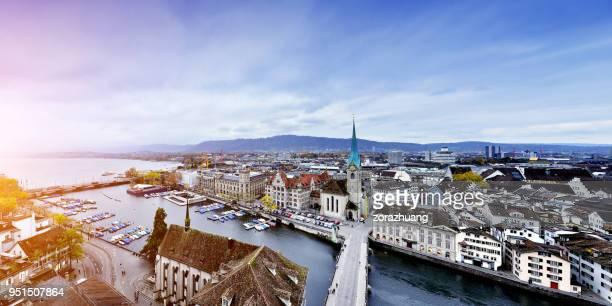 Luftaufnahme der Stadt Zürich