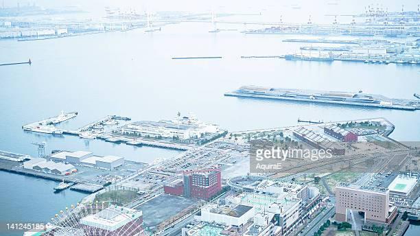 aerial view of zusi - zushi kanagawa stock photos and pictures
