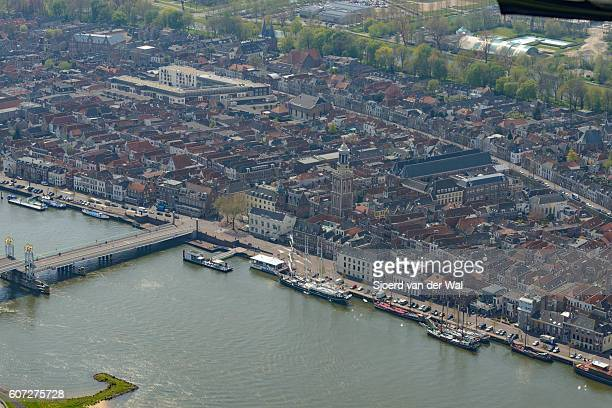 """aerial view on kampen in the netherlands - """"sjoerd van der wal"""" stockfoto's en -beelden"""