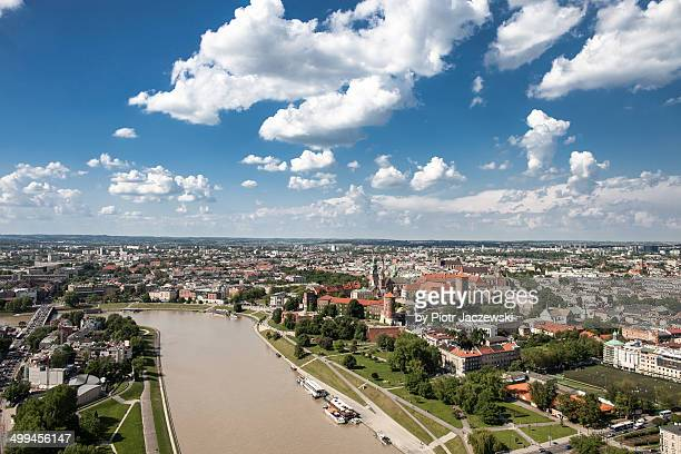 Aerial view on Krakow