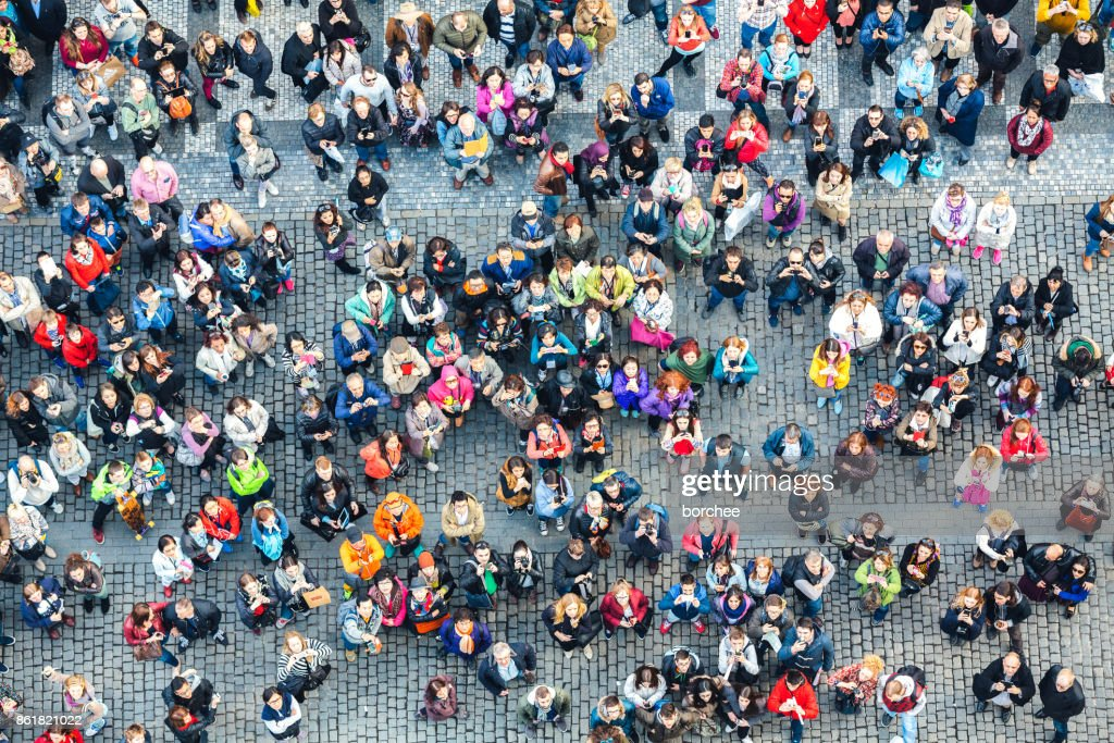Aerial View On Old Town Square In Prague : Stock Photo