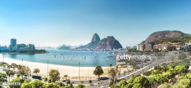 aerial view on sugar loaf mountain in Bay of Rio de Janeiro