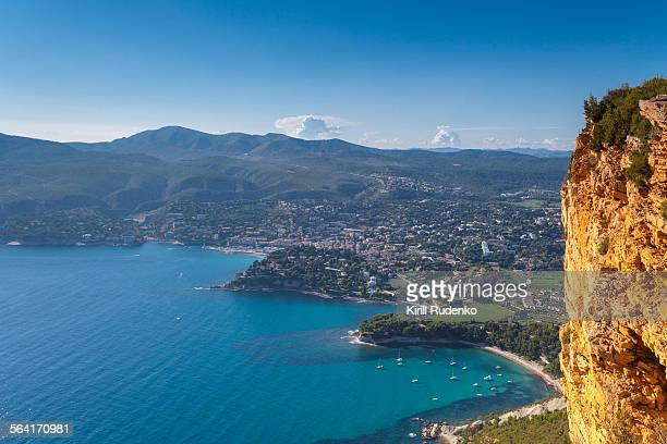 Aerial view on the Cassis, Provence, France