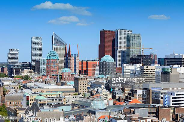 aerial view on The Hague's city centre