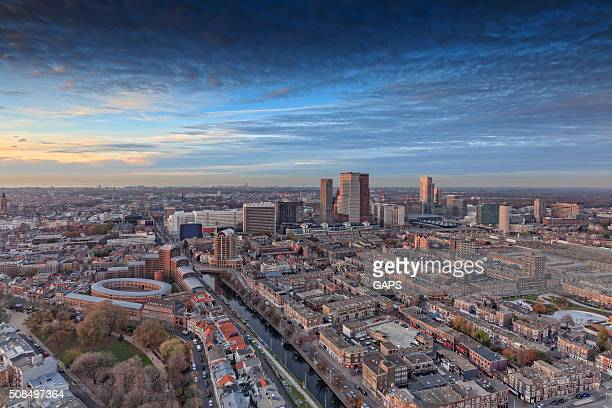 aerial view on the hague's city centre - the hague stock photos and pictures