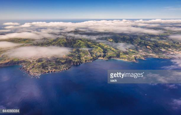 Aerial view on the Island of Sao Miguel, Azores