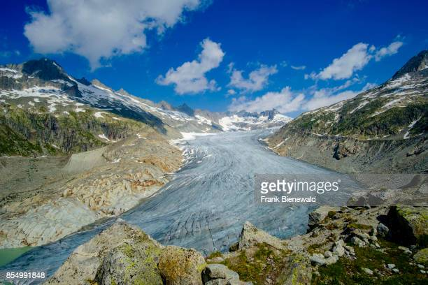 GLETSCH VALAIS SWITZERLAND Aerial view on the Rhône Glacier the largest glacier in the Urner Alps