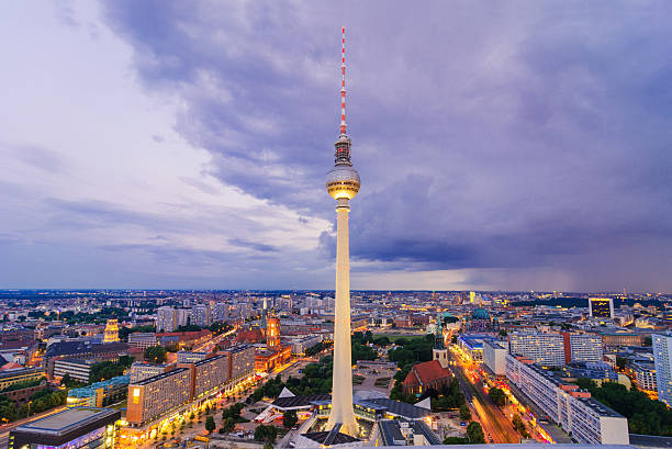 Aerial View On TV Tower And Cityscape Of Berlin Wall Art