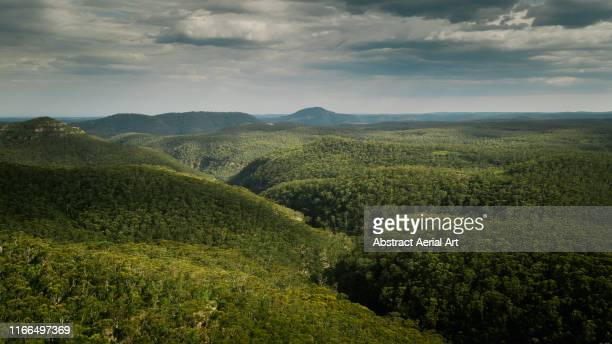 aerial view over blue mountains, australia - katoomba stock pictures, royalty-free photos & images