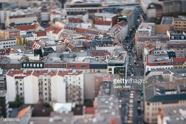 Aerial view over east Berlin