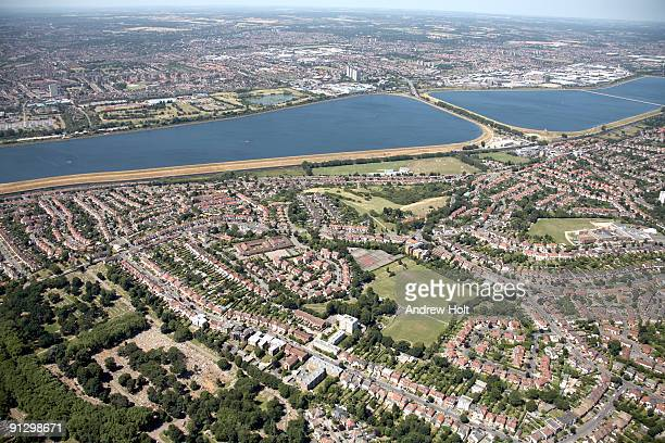 aerial view over enfield - enfield london stock pictures, royalty-free photos & images