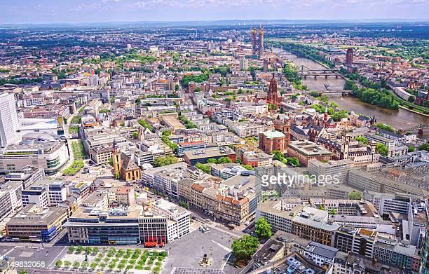 Luftaufnahme auf Frankfurt