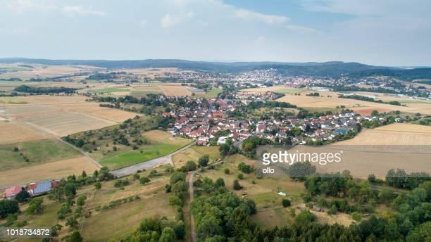 Luftaufnahme über Lorbach und Buedingen, Wetterau, Deutschland