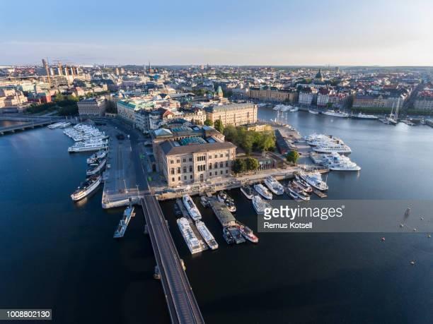 Flygfoto över Stockholms Nationalmuseum