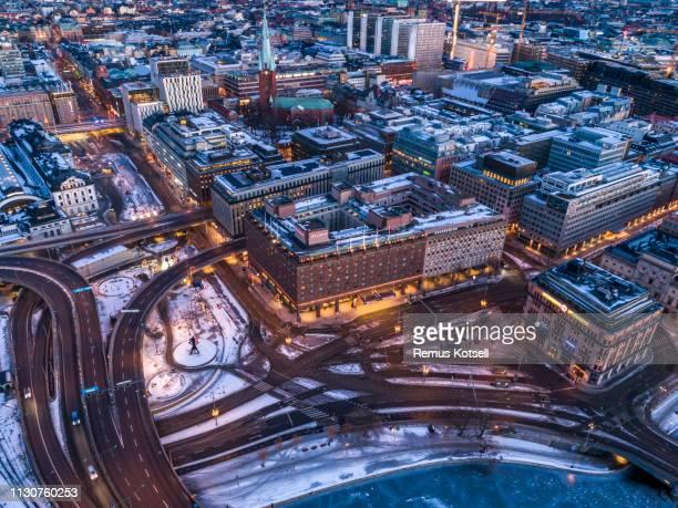 Flyg utsikt över Stockholm
