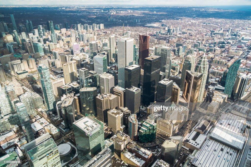 Aerial View over Toronto : Stock Photo