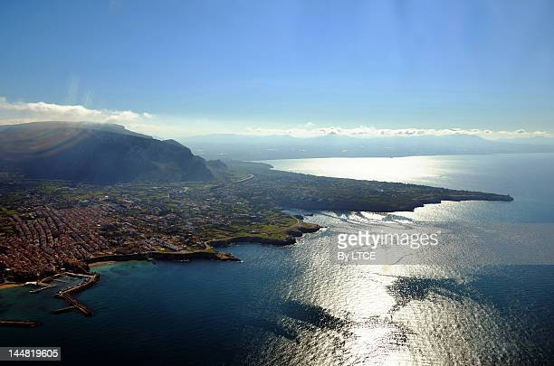 aerial view palermo - palermo sicily stock photos and pictures