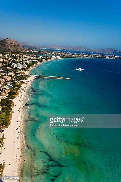 aerial view. - muro stock photos and pictures
