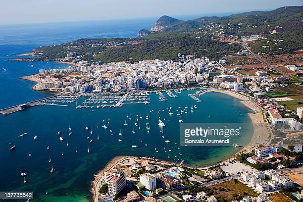 aerial view. - ibiza island stock pictures, royalty-free photos & images