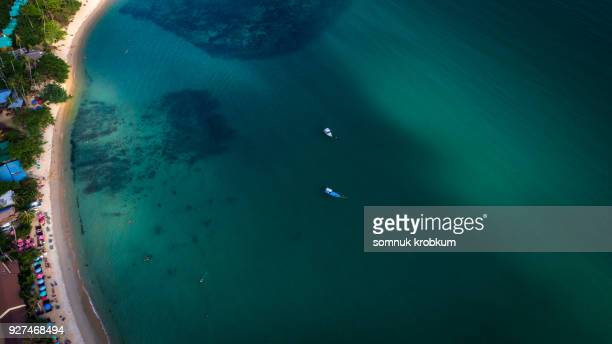 Aerial view sea coastline in Koh Chang;Thailand