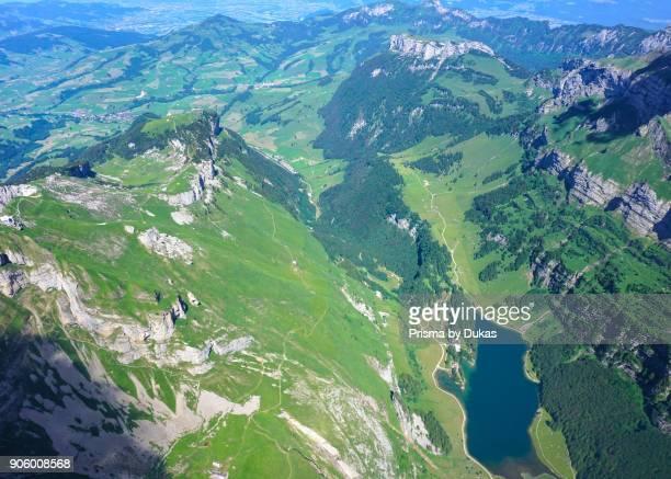 Aerial view Seealpsee and Ebenalp