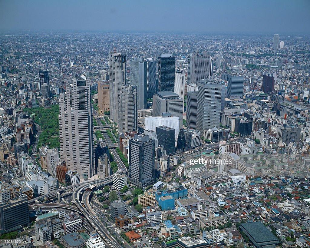Aerial view, Shinjuku, Tokyo, Japan : Stock Photo