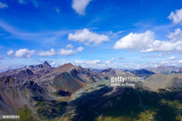 Aerial view Silvretta with Piz Tasna