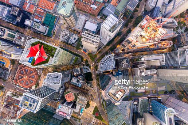 aerial view singapore city buildings in business district,financial economy, construction industry,or modern company organization concept - singapore stock pictures, royalty-free photos & images