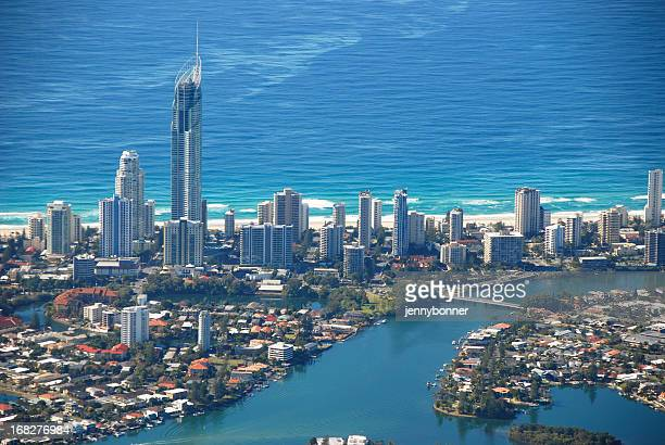 Aerial View Surfers Paradise, Gold Coast, Queensland, Australia