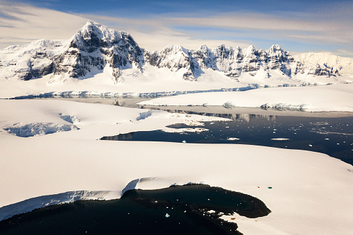 Aerial view to Port Lockroy, Antarctica - gettyimageskorea