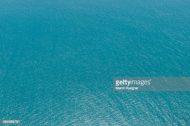 Aerial view to water of Persian Gulf