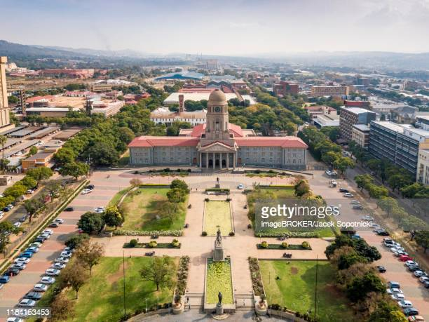 aerial view, tshwane city hall, pretoria, south africa - tshwane stock pictures, royalty-free photos & images