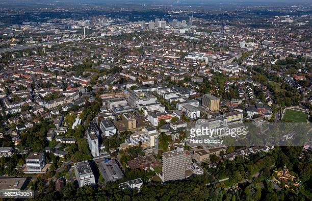Aerial view, University Hospital Essen, Essen, Ruhr district, North Rhine-Westphalia, Germany