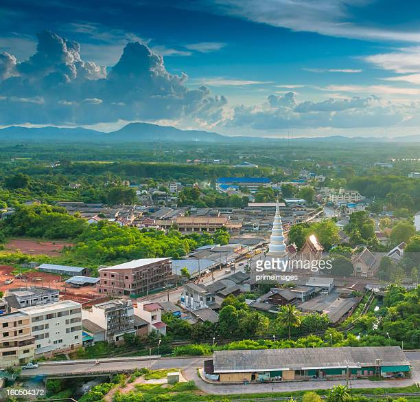 Aerial view urban cityscape in south of Thailand Asia