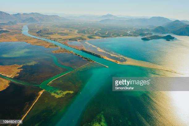aerial view valley of the neretva,croatia - adriatic sea stock pictures, royalty-free photos & images